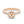 18K Rose Gold Semi-mount Ring, 0.63 Carats