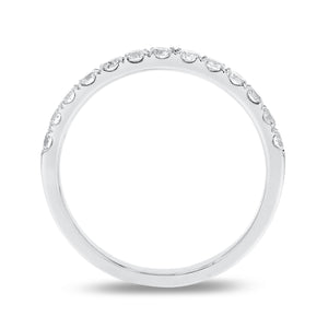 18K White Gold Diamond Wedding Band, 0.47 Carats - R&R Jewelers