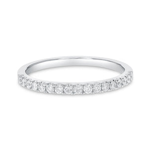 18K White Gold Diamond Wedding Band, 0.26 Carats