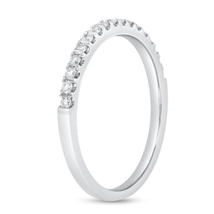18K White Gold Diamond Wedding Band, 0.26 Carats - R&R Jewelers