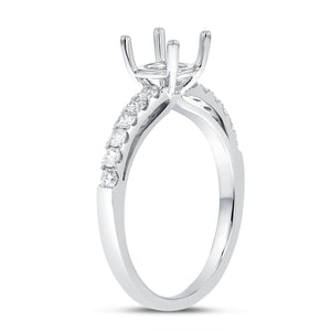 18K White Gold Semi-mount Ring, 0.35 Carats - R&R Jewelers