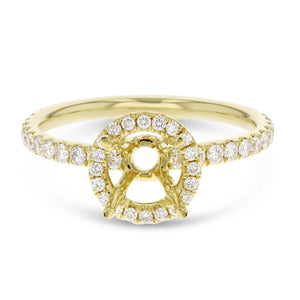 18K Yellow Gold Semi-mount Ring, 0.50 Carats