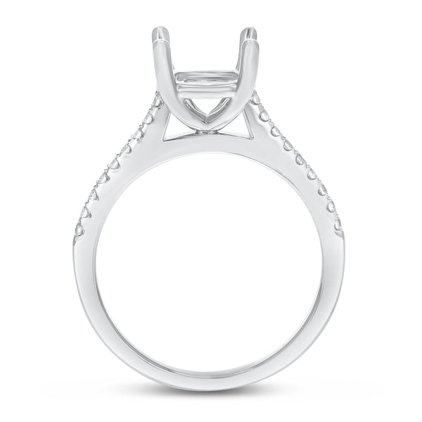 18K White Gold Semi-mount Ring, 0.20 Carats