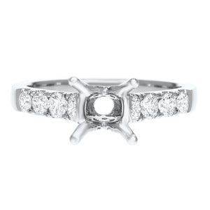 18K White Gold Semi-mount Ring, 0.66 Carats - R&R Jewelers