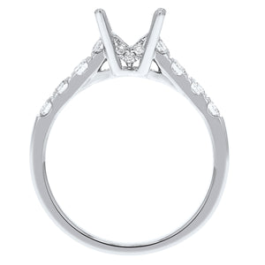 Round Brilliant Diamond Semi Mount Ring - R&R Jewelers