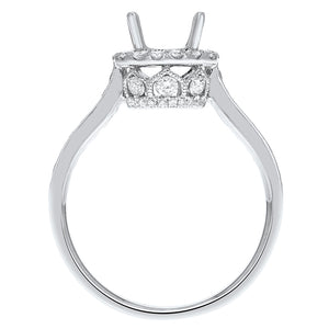 18K White Gold Semi-mount Ring, 0.58 Carats