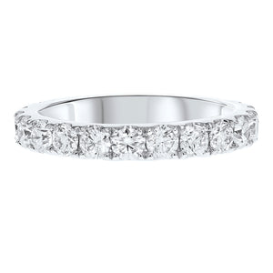 Diamond White Gold Eternity Band, 2.10 Carats