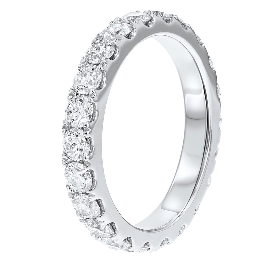 Diamond White Gold Eternity Band, 2.10 Carats - R&R Jewelers
