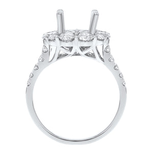 18K White Gold Semi-mount Ring, 2.21 Carats - R&R Jewelers