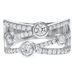 Entwined Diamond Statement Ring - R&R Jewelers