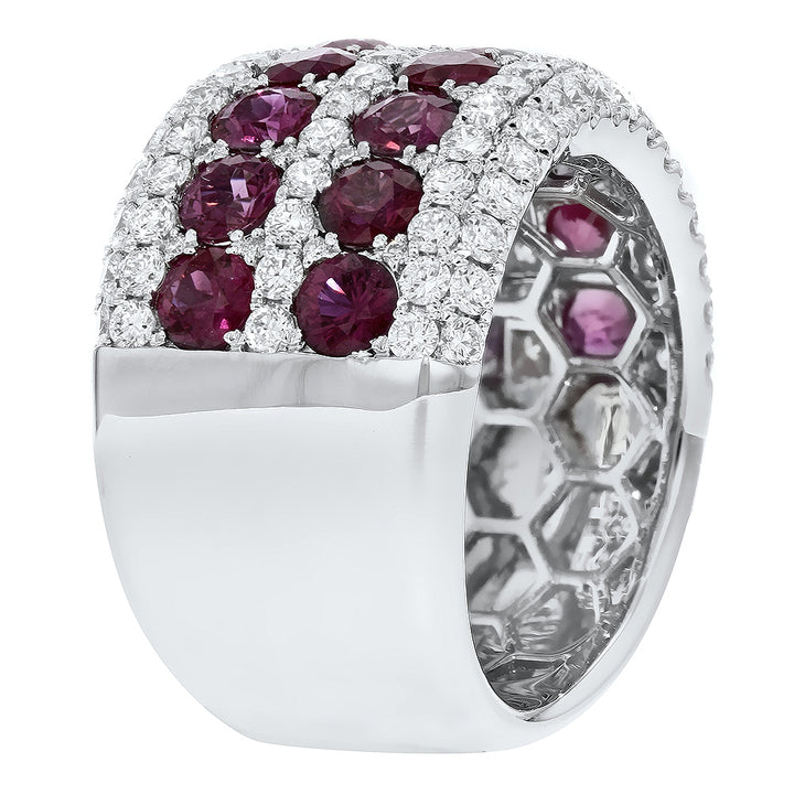 18K White Gold Diamond and Gemstone Ring, 5.41 Carats