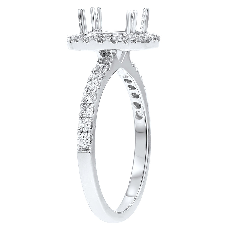 Diamond Halo Semi Mount Ring - R&R Jewelers