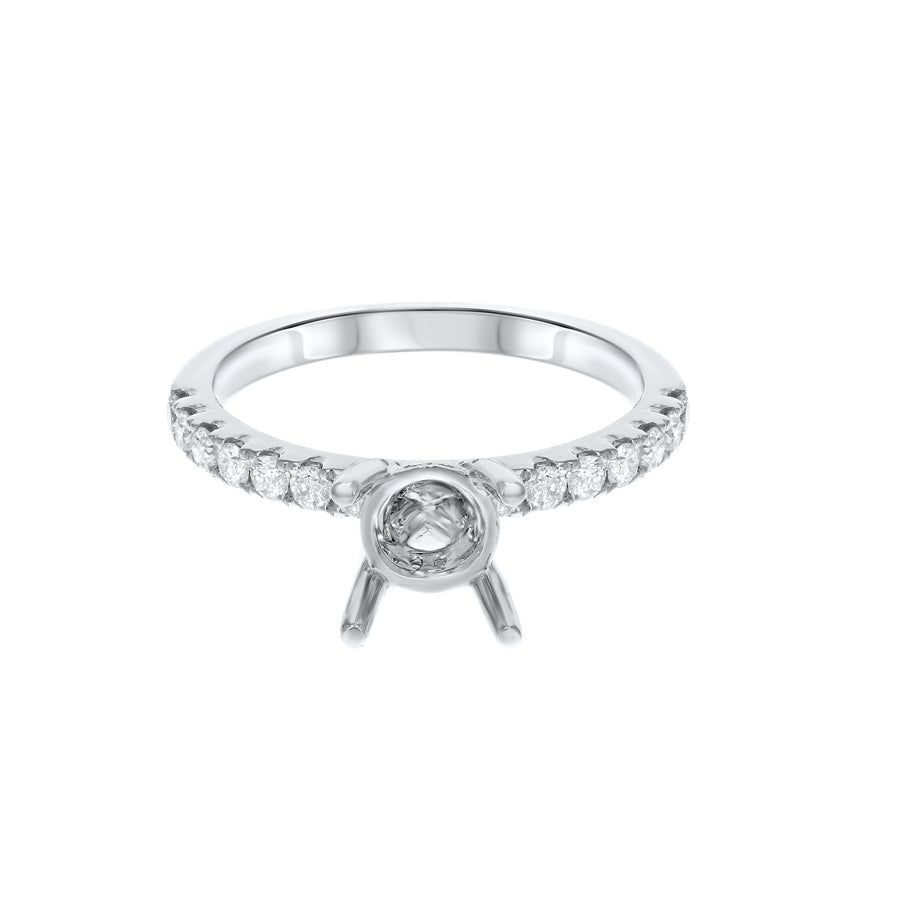 Hidden Halo Diamond Semi Mount Ring - R&R Jewelers