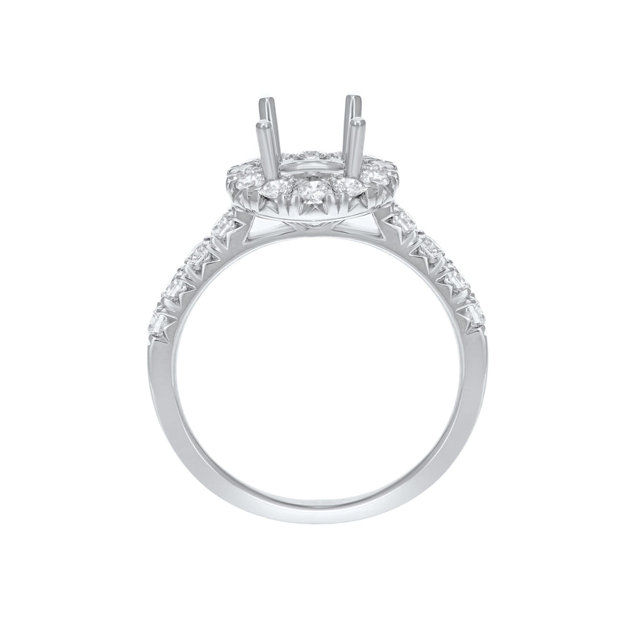 18K White Gold Semi-mount Ring, 0.71 Carats - R&R Jewelers