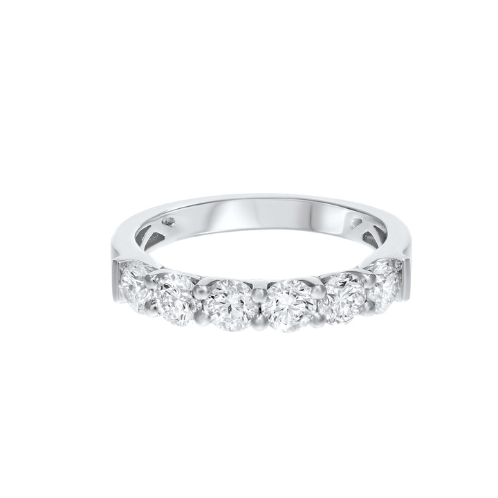 18K White Gold Diamond Wedding Band, 1.23 Carats - R&R Jewelers