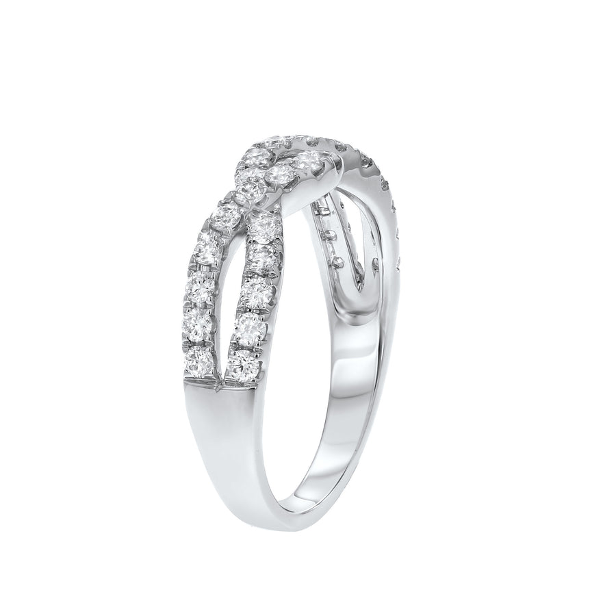 Diamond Infinity Twist Ring - R&R Jewelers