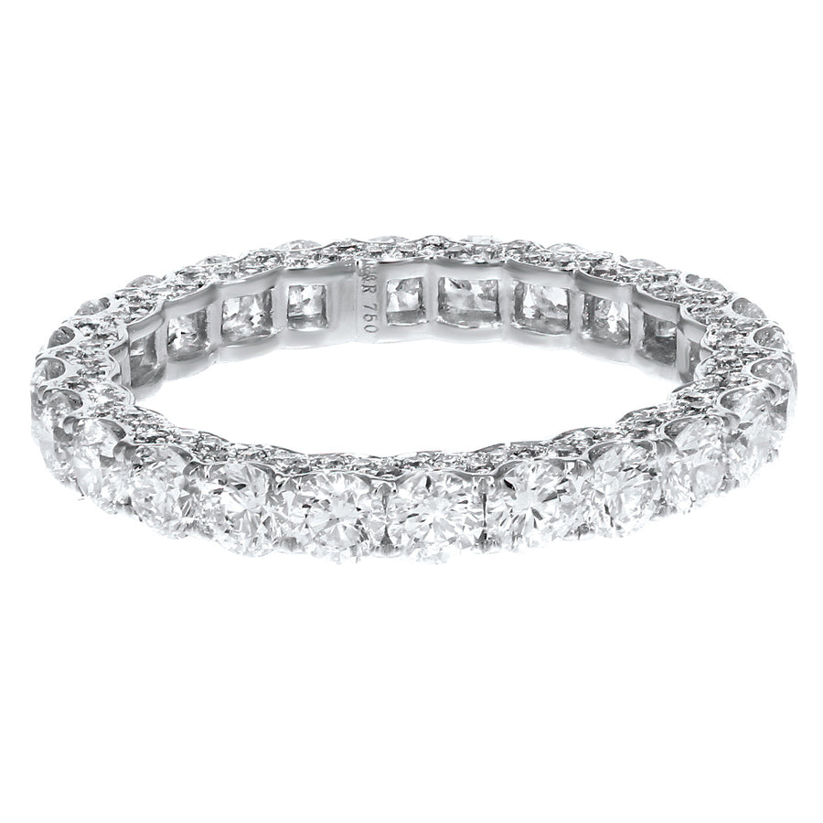 Diamond White Gold Eternity Band, 2.62 Carats