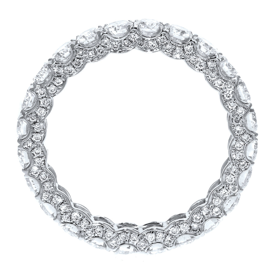 Diamond White Gold Eternity Band, 2.62 Carats - R&R Jewelers