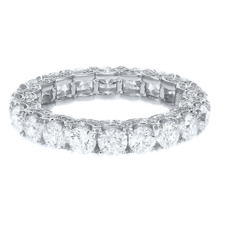 Diamond White Gold Eternity Band, 3.41 Carats - R&R Jewelers