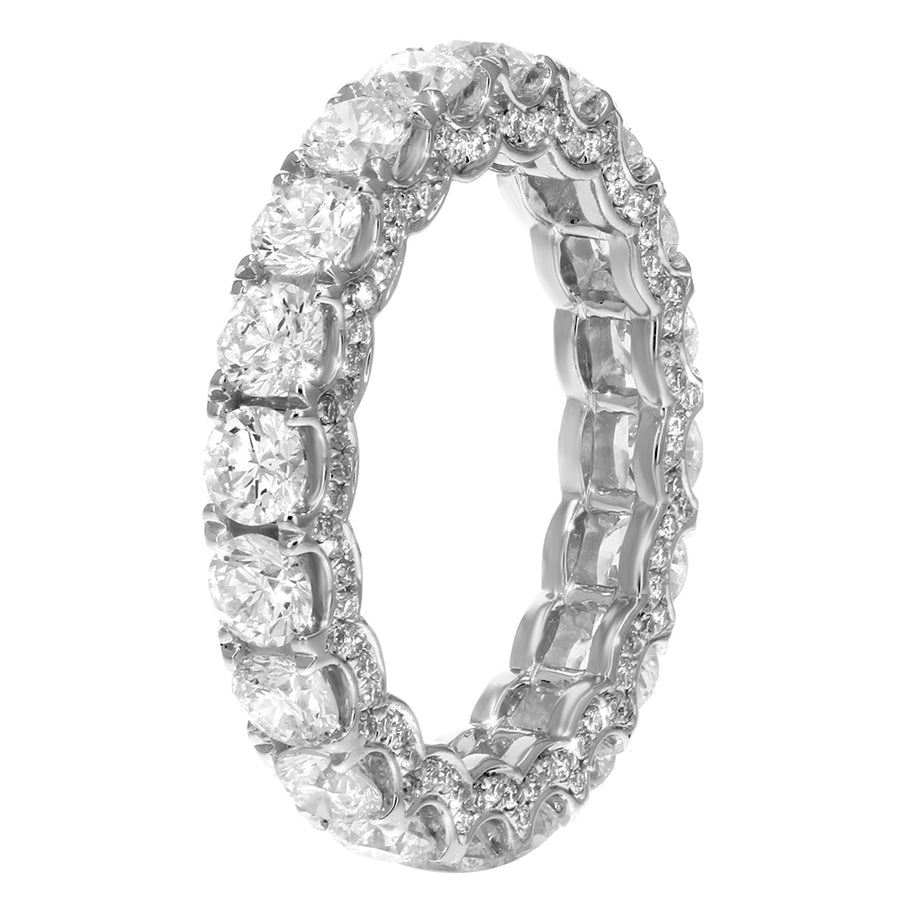 Diamond White Gold Eternity Band, 3.41 Carats