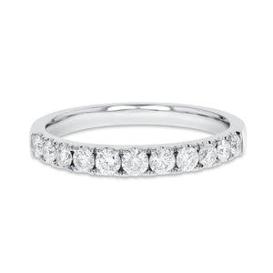 18K White Gold Diamond Wedding Band, 0.52 Carats - R&R Jewelers