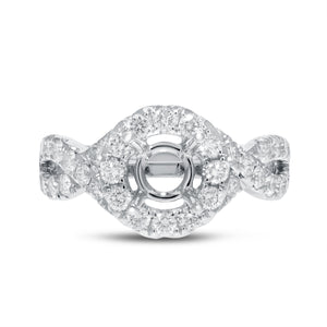 Diamond Infinity Semi Mount Ring - R&R Jewelers