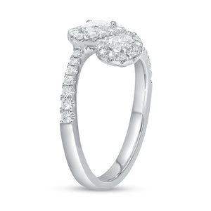 18K White Gold Statement Ring, 0.93 Carats - R&R Jewelers
