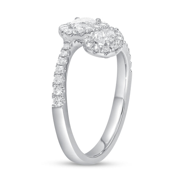 18K White Gold Statement Ring, 0.93 Carats
