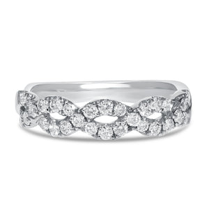 18K White Gold Statement Ring, 0.51 Carats