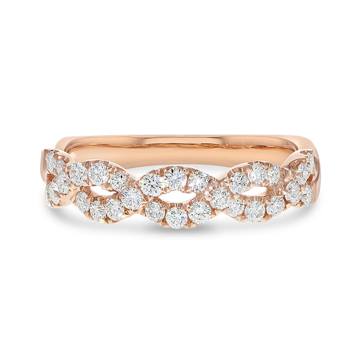 18K Rose Gold Statement Ring, 0.50 Carats