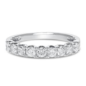18K White Gold Diamond Wedding Band, 0.74 Carats - R&R Jewelers
