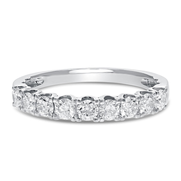Scalloped Pave Diamond Wedding Band - R&R Jewelers