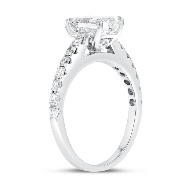 18K White Gold Engagement Ring, 1.84 Carats