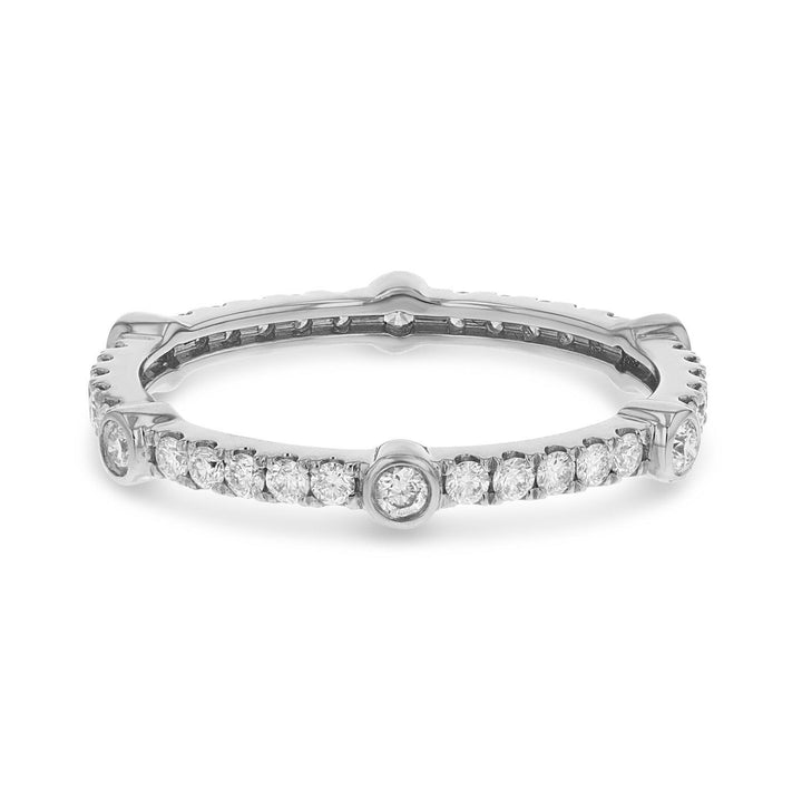 Diamond White Gold Eternity Band, 0.52 Carats