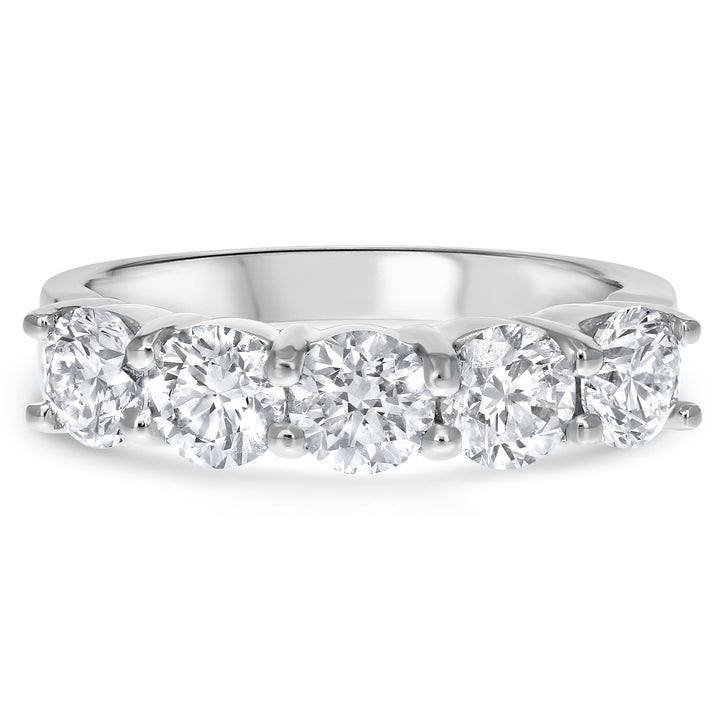 Half Way Diamond Wedding Band, 2 ct - R&R Jewelers