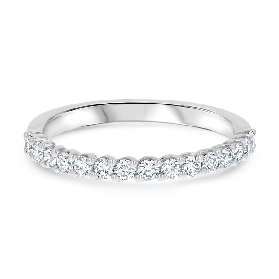 Halfway Round Diamond Wave Set Band - R&R Jewelers