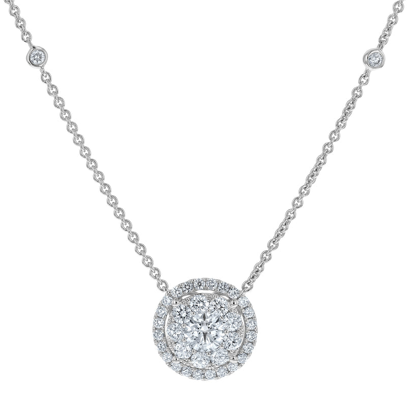 Diamond Cluster Halo Pendant - R&R Jewelers