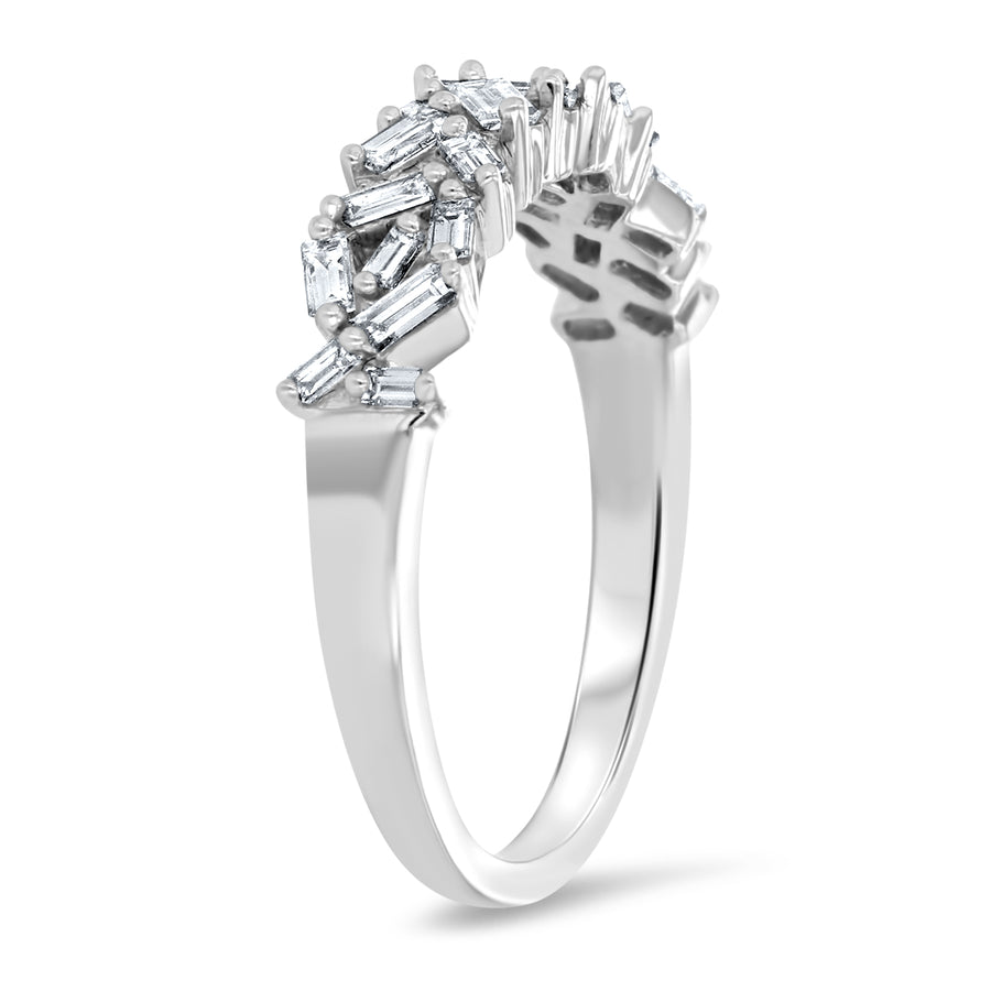 Diamond Baguette Illusion Ring - R&R Jewelers