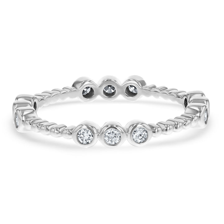Bezel Set Diamond Eternity Ring, 0.27 ct - R&R Jewelers