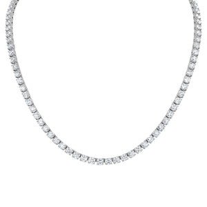Round Brillaint Diamond Tennis Necklace - R&R Jewelers