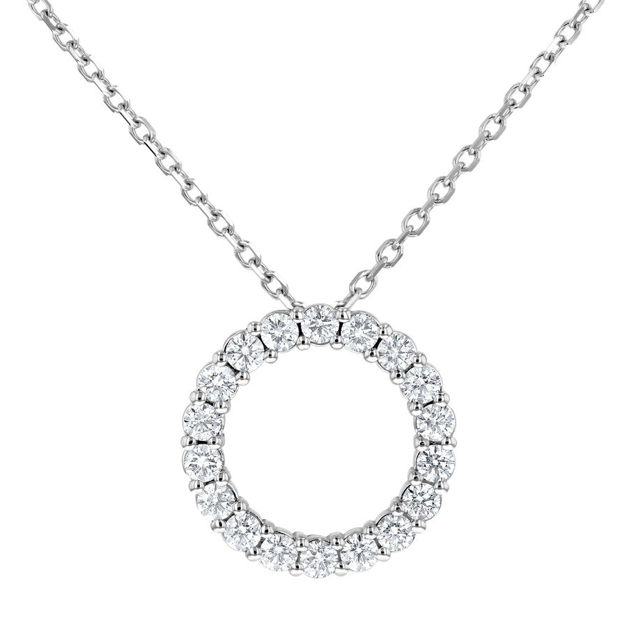 Open Circle Diamond Pendant - R&R Jewelers