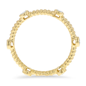 Diamond Eternity Rope Ring - R&R Jewelers