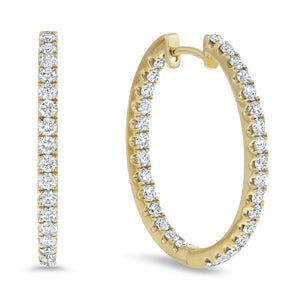 Inside Out Diamond Hoop Earrings, 1.32 ct - R&R Jewelers