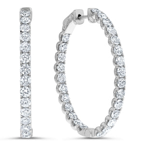 Inside Out Diamond Hoop Earrings, 3.71 ct - R&R Jewelers
