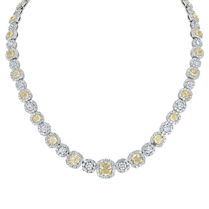 Canary Diamond Eternity Necklace - R&R Jewelers