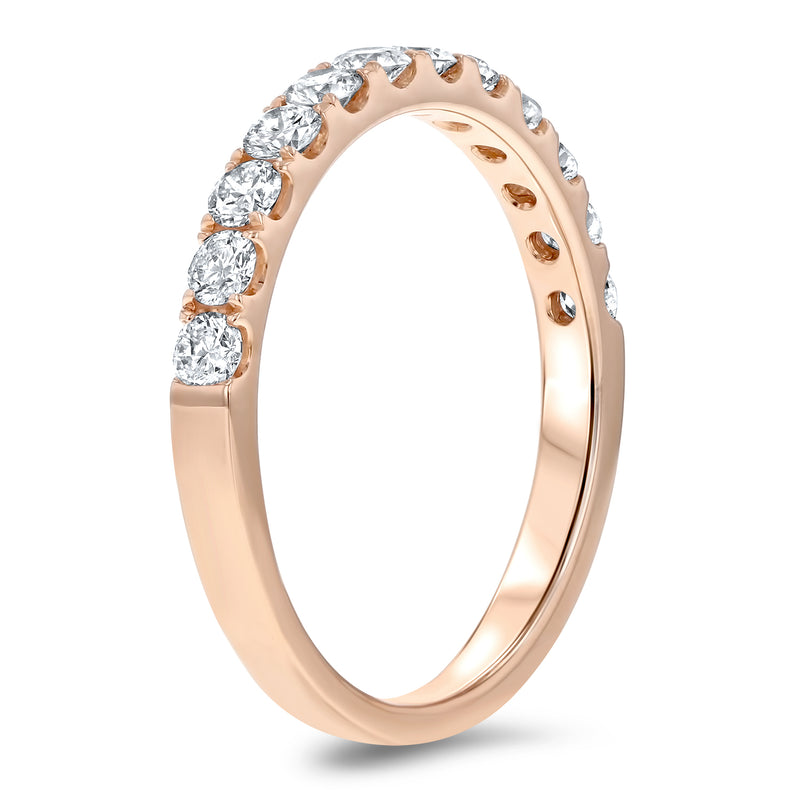 Diamond Rose Gold Wedding Band, 0.60 Carats - R&R Jewelers