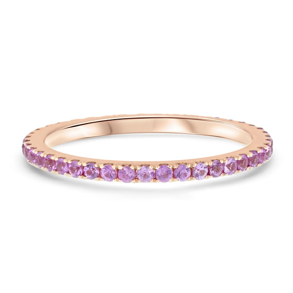 Pink Sapphire Eternity Ring - R&R Jewelers