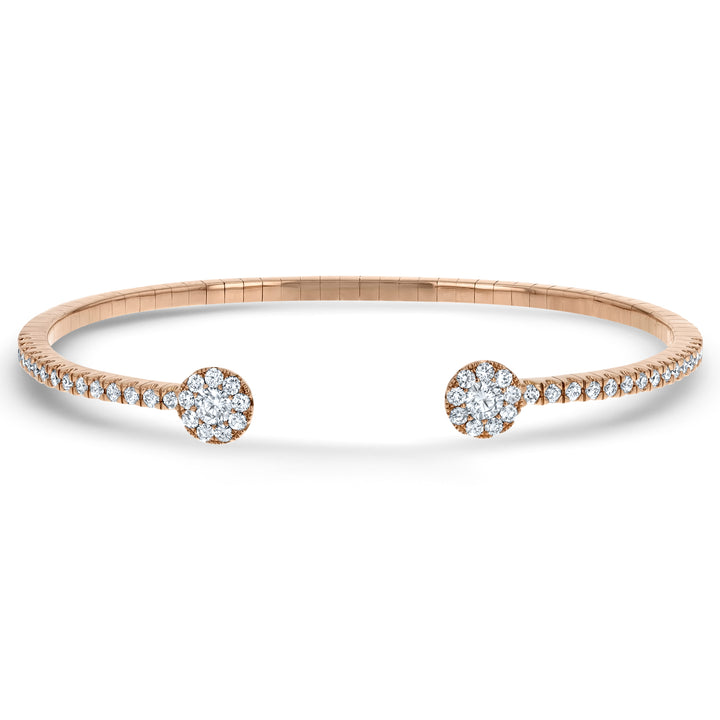 Round Shape Diamond Cuff Bracelet - R&R Jewelers