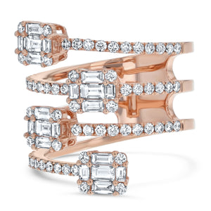 Four Row Diamond Illusion Ring - R&R Jewelers
