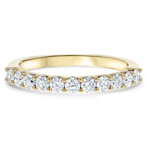 Halfway Scalloped Diamond Wedding Band, 0.62 Carats - R&R Jewelers